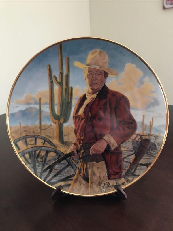 JOHN WAYNE Collector Plate 24KG Franklin Mint