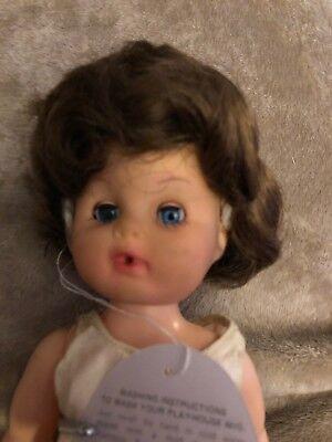 "1//3 8-9/"" BJD Doll Wig Auburn Golden Brown Curly Curls Hair Medium Long Retro"