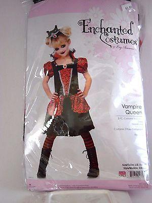 Child Girls Vampire Queen Large 10-12 Halloween Costume School Dress Up  - Vampire School Girl Costume