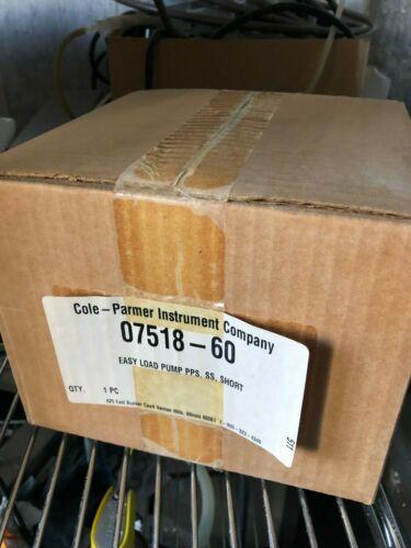 New Cole-Parmer MasterFlex L/S Easy-Load Model 7518-60 Pumphead (w/ 90 Day WTY)