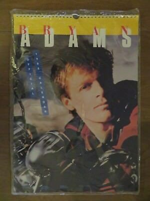 Vintage NOS Bryan Adams 1986 Wall Calendar brand new still in wrapper
