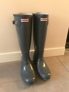 Hunter boots- grey, size 8.5