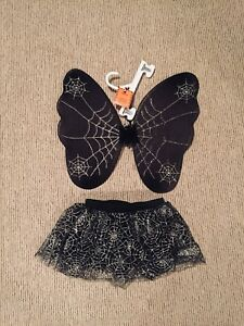 BRAND NEW CLAIRES GIRLS SPIDER TUTU & WINGS COSTUME!!
