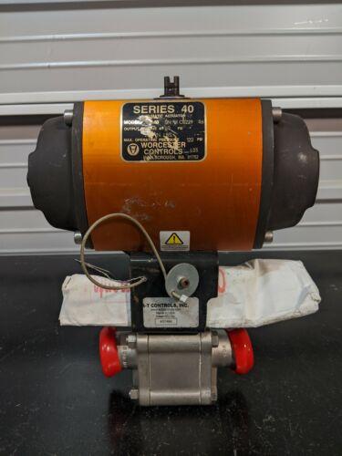 "Worcester Controls Series 40 Pneumatic Actuator with Flowserve 1.5"" TC SS Valve"