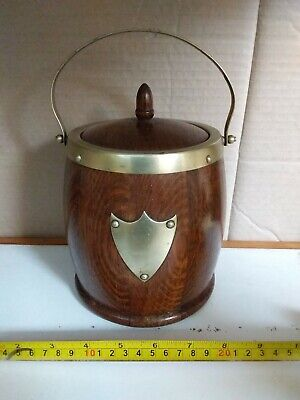 Vintage Retro Wooden Ice Bucket with Ceramic liner.