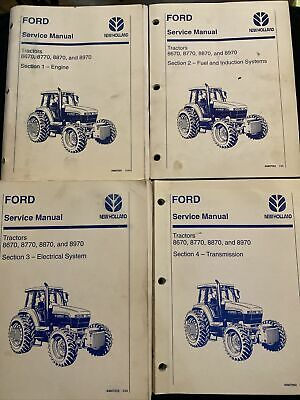 Ford New Holland Service Manual Tractors 8670 8770 8870 8970 2026