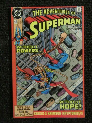 Adventures Of Superman #472  Nov 1990  High Grade Copy!!  See Pics!!