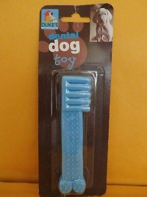 Dental Dog chew toy blue tooth brush