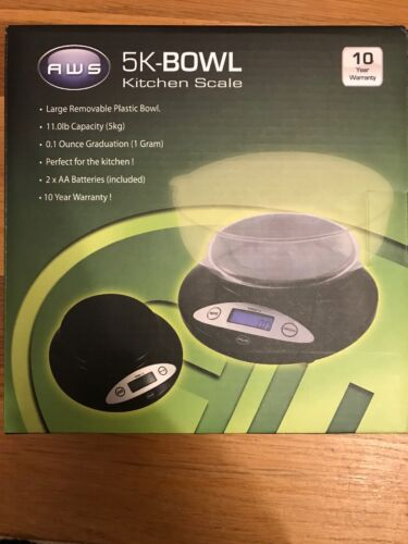 (Black) - AMERICAN WEIGH 5KG BOWL SCALE BLACK.