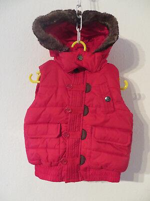 TOPOLINO ° warme STEPPWESTE Gr. 86 rot Mädchen Mode Kleidung Weste Outdoor Jacke ()
