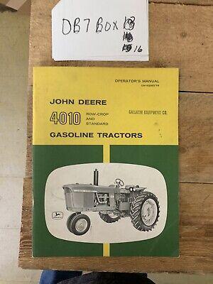 John Deere 4010 Gasoline Tractor Original Owner Operator Manual Omr28877r Nos