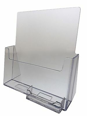 10-pack Acrylic 8.5 X 11 Brochure Holders With Business Card Holder Wholesale