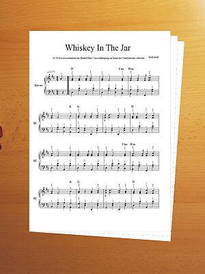Klaviernoten Whiskey In The Jar Anfänger und Fortgeschrittene Fingersatz Piano