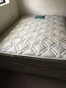 Double bed matress with base and 2 side table and 2 door cupboard Belfield Canterbury Area Preview