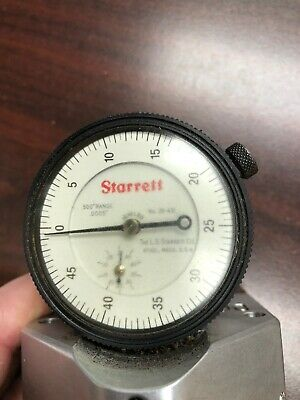 0-0.8mm Range Dovetail Mount 0-50-0 Reading Yellow Dial 35mm Dial Dia. Starrett 709MALCZ Dial Test Indicator with Attachments 0.01mm Graduation