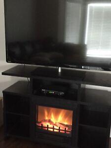 50' Toshiba LED TV & Fireplace Stand