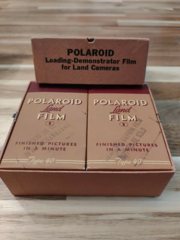 Vintage Polaroid Land Film Collectible Demonstration Only 2 Boxes Type 40 1949