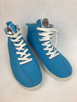 - RARE Gourmet FOOTWEAR DIECI 2 C CANVAS BABY BLUE Mid Boot Shoe SIZE 9 M