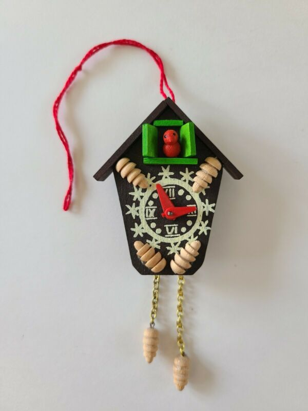 Steinbach Cuckoo Clock Christmas Ornament Handmade Germany