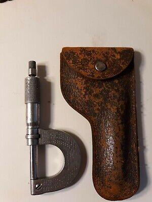 Vtg Brown Sharpe Screw Thread Micrometer December 30 1902 Providence R.i.