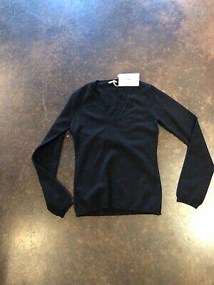 Malo black 3-4 ply cashmere V neck 48 L