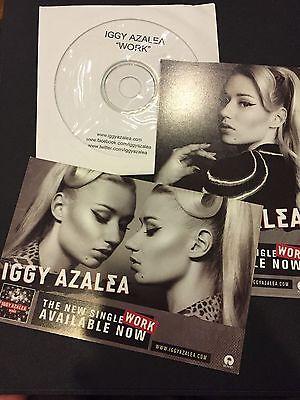 Iggy Azalea Work Cd Single And Postcard Rare Promo Usa