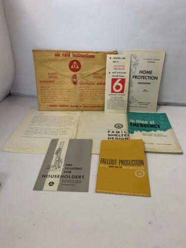 Vtg 1960 Civil & Defense Home Survival Kit Nuclear Attack Fallout Shelter Kit
