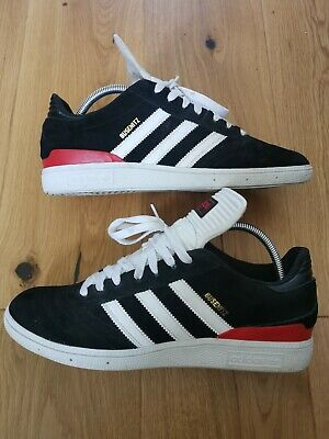 Adidas Busenitz Trainers Black/Red/White Size Uk 10 Skateboarding Casual