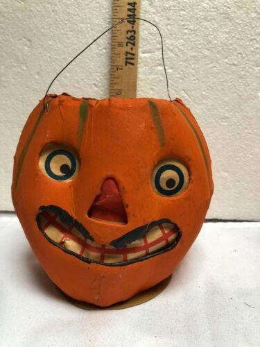 vintage primitive AUTHENIC Halloween PUMPKIN JACK O LANTERN very old