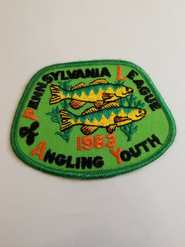 1983 Pennsylvania League of Angling Youth Fishing Patch...Free Shipping!