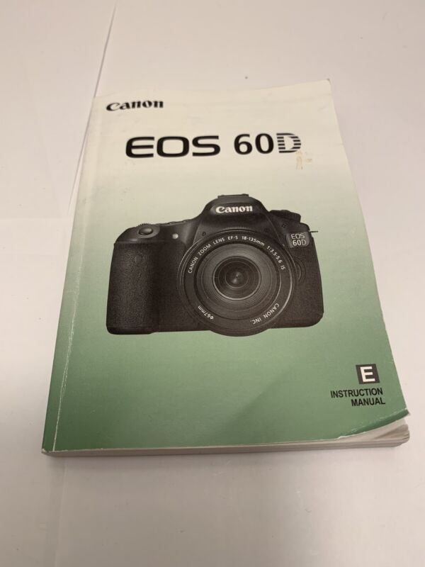 Canon EOS 60D Camera Instruction Manual User Guide English