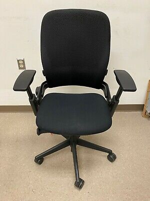 Steelcase Leap V2 4d Arms Mesh Fabric Back Black Color