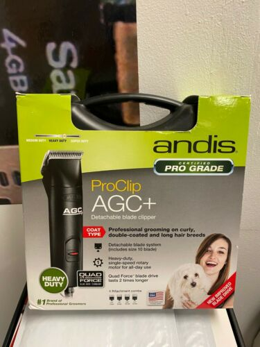 Andis ProClip AGC+ 1-Speed Detachable Blade Pet Dog Clipper + 4 Combs BRAND NEW!
