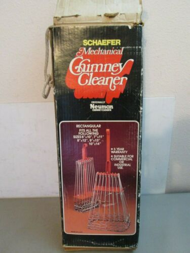 Vintage Schaefer Neuman Mechanical Chimney Cleaner Original Box Made in USA