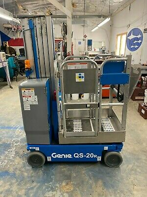 2013 Genie Qs-20r Quick Stock Vertical Mast Lift 231 Hours