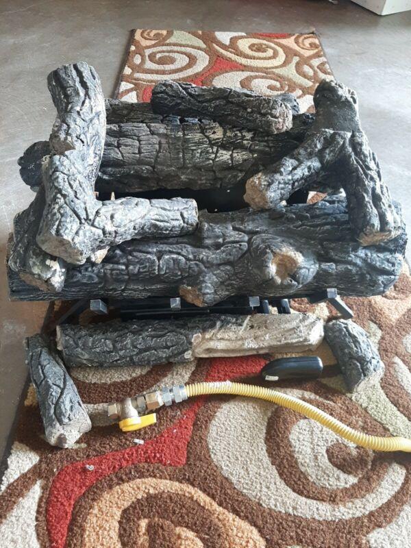 Savanna oak 24 in. SCVFR24N Vent Free natural  Gas Fireplace Logs w/remote