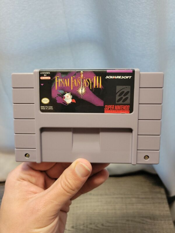 Final Fantasy 3 SNES Vintage Super Nintendo FF3 Tested Cart Only III Authentic