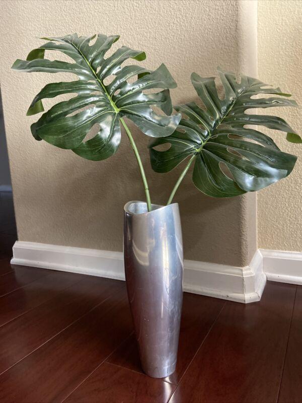 """Aluminum Vase 11""""X3.5""""X3.5"""" Nambe Studio 1994 #61 Signed Karim  GORGEOUS"""
