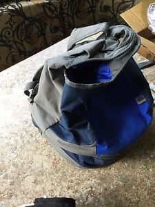Cooler backpack and dishes