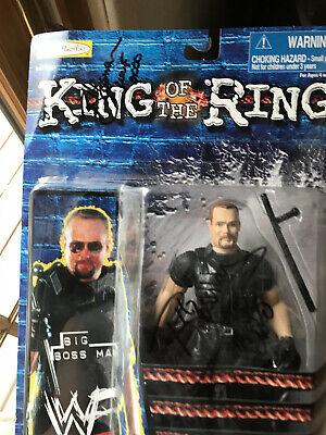 AUTOGRAPHED! WWF Jakks Series 8 King of the Ring BIG BOSS MAN Action Figure
