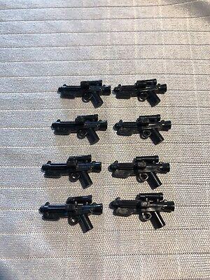 8x Stormtrooper Star Wars Blaster Lego Waffen sandtrooper Pistole ucs Gewehr ()