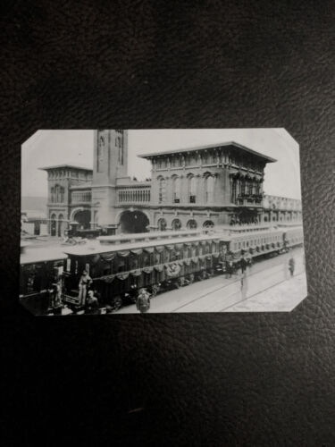 tintype Of Abraham Lincoln Funeral Train Harrisburg PA Civil War  C581SP