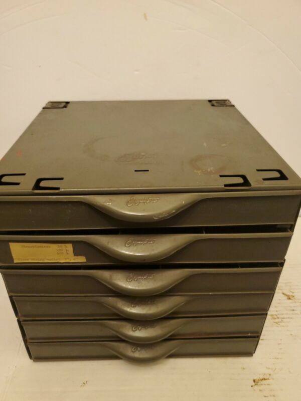 Vintage Industrial Parts Cabinet Hardware Craft Equipto USA Made 6 Drawers..