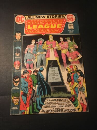 JUSTICE LEAGUE OF AMERICA #100 1972 DC ANNIVERSARY ISSUE VG/FN!!!