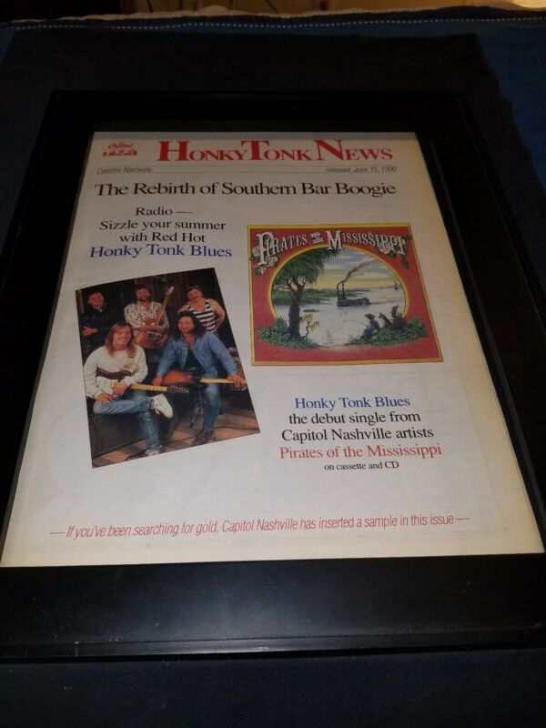 Pirates Of The Mississippi Honky Tonk Blues Radio Promo Poster Ad Framed!