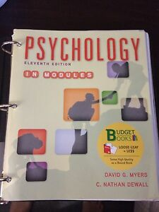 Psychology 11th edition (University of Waterloo)
