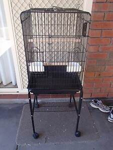 Large Black Bird Cage With Stand (NO EMAILS THANKS) Hillbank Playford Area Preview