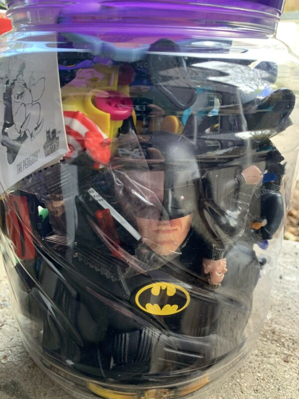 Vintage Modern Batman Lot 1989 Bank Tim Burton Movie Collectible Figure Mystery!