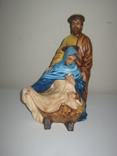 Vtg Nativity Holy Family Mary Joseph Jesus Christms Ceramic Atlantic Mold