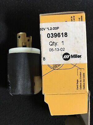 Miller 039618 Plug Tw Lk 2p2w 20a 250v L2-20p Hubbell